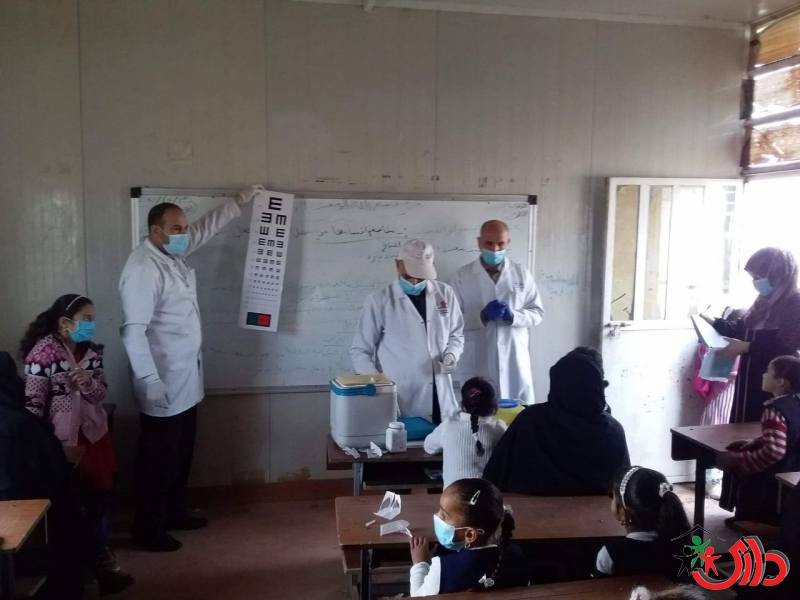 DARY organization implemented an awareness campaign and vaccination for students in the IDPs camps of Anbar